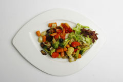 Stew vegetables on plate Royalty Free Stock Photo