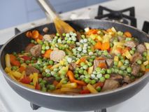 Stew with vegetables Stock Photography