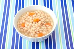 Stew of white beans Stock Image