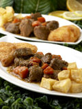 Stew With Fried Apples Stock Images