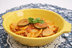 Stew of zucchini, potatoes and meat Royalty Free Stock Image