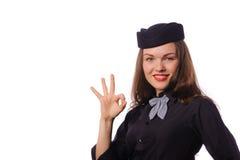 Steward (hôtesse de l'air) Photos libres de droits