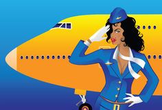 Steward (hôtesse de l'air) Photo stock