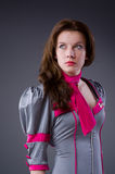 Steward (hôtesse de l'air) féminin Images libres de droits