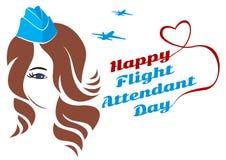 Stewardes девушки поздравительной открытки Стоковая Фотография RF