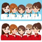 Stewardes kobiet drużyna Zdjęcie Royalty Free