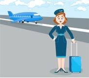 stewardesa ilustracja wektor