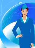 Stewardess stock illustratie