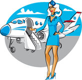 Stewardess Stock Image