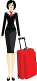 Stewardess Imagem de Stock Royalty Free