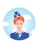 Stewardess Immagini Stock Libere da Diritti