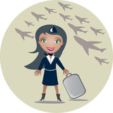 Stewardess Stock Photography