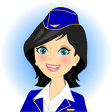 Stewardess Stock Afbeelding