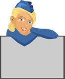 Stewardess Immagine Stock Libera da Diritti