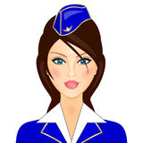 stewardess vektor illustrationer