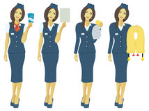 Stewardess. The figure shows the flight attendant Royalty Free Stock Images