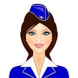 Stewardess Fotografia Stock Libera da Diritti