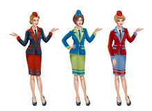 Stewardess vector illustratie