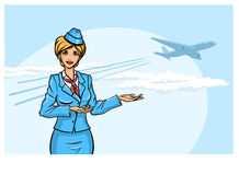 Stewardess Stock Photo