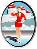 stewardess stock illustrationer
