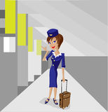 stewardess Royaltyfria Foton