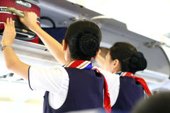 stewardess Stock Photo
