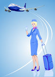 Stewardess, air hostess Royalty Free Stock Photo