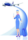 Stewardess, air hostess Royalty Free Stock Photos