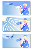 Stewardess, air hostess Royalty Free Stock Images
