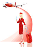 Stewardess, air hostess Stock Images