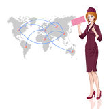 Stewardess, air hostess Royalty Free Stock Photography