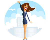Stewardess in airport Stock Image