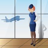 Stewardess Royalty Free Stock Image