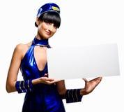 Stewardess bonito foto de stock