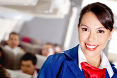 Stewardess de ar Fotografia de Stock Royalty Free