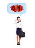 Stewardess dreaming Royalty Free Stock Images