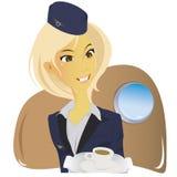 Stewardess giovane bello Fotografia Stock
