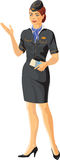 Stewardess girl Stock Photos
