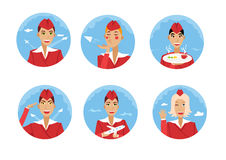Stewardess illustration Stock Images