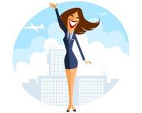 Stewardess im Flughafen Stockbild
