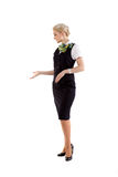 Stewardess invites the cabin Royalty Free Stock Photography