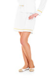 Stewardess legs Royalty Free Stock Photo