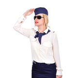 Stewardess looking Stock Photo