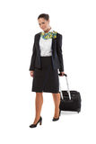 Stewardess with luggage bags Stock Photos