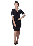 Stewardess in new uniform Royalty Free Stock Images