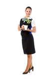 Stewardess offers a cup of coffee Stock Photography