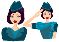 Stewardess Woman Female Stock Image
