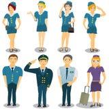 Stewardessvector Stock Foto