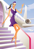 Stewardesswillkommen an Bord Lizenzfreies Stockbild