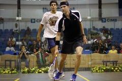 Stewart Boswell (Australië) versus Omar Mosaad (Egypte) Stock Fotografie